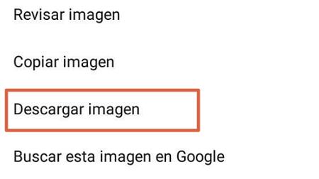 Cómo descargar un GIF de Facebook desde Android paso 4