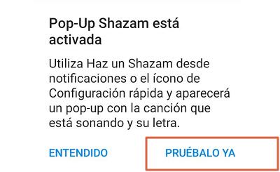 Como reconocer canciones con el móvil utilizando Shazam paso 4