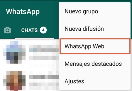 Cómo tener WhatsApp en una Tablet Android usando WhatsApp Web paso 5