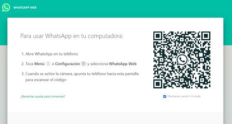 Cómo tener WhatsApp en una Tablet Android usando WhatsApp Web paso 6