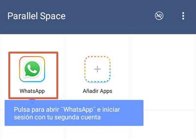 Cómo tener dos cuentas de WhatsApp en iOS y Android con Parallel Space paso 3