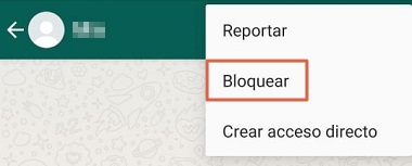 Another alternative to block someone on WhatsApp Step 3