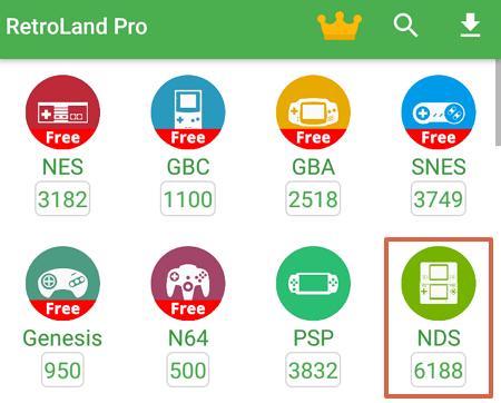 Cómo descargar RetroLand como un emulador de Nintendo DS en Android paso 3