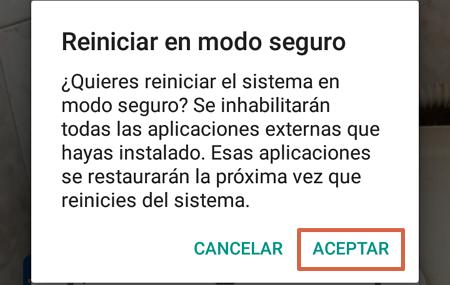 Cómo activar y desactivar el modo seguro en Android paso 3