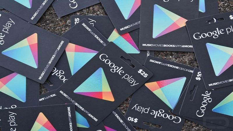 Cómo canjear una tarjeta de la Play Store o Gift Card para comprar