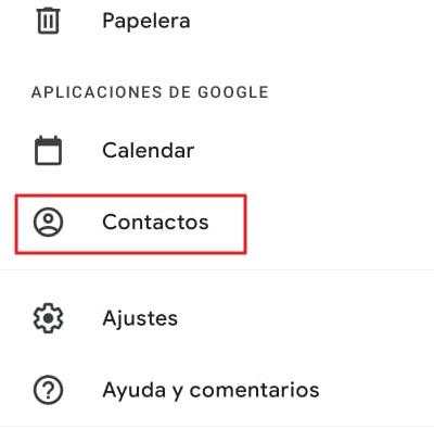 Cómo recuperar contactos borrados de tu SIM en iOS y Android mediante Gmail paso 2