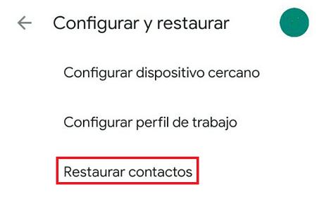 Cómo recuperar contactos borrados de tu SIM en iOS y Android. Copias de seguridad. Paso 4