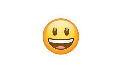 Carita con ojos grandes y sonrisa abierta