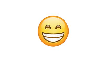 Carita con sonrisa completa y ojos cerrados