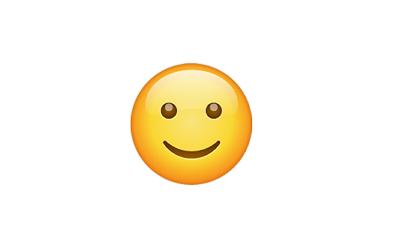 Carita con sonrisa ligera