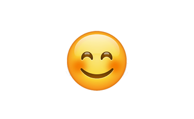 Carita sonrojada con sonrisa grande
