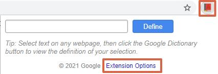 Cómo activar el diccionario de Google en Android o en el navegador. Usando la extensión para Chrome. Paso 4
