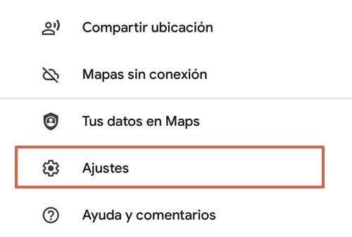 Cómo activar el modo conducción del Asistente en Google Maps desde los ajustes paso 3