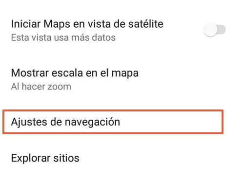 Cómo activar el modo conducción del Asistente en Google Maps desde los ajustes paso 4