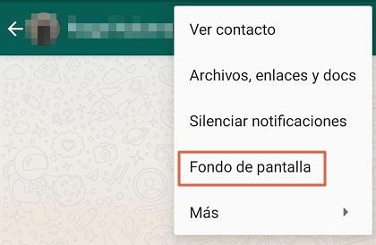 Cómo cambiar el fondo de WhatsApp de forma individual para cada chat paso 2