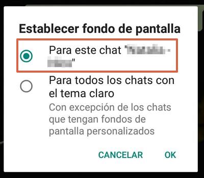 Cómo cambiar el fondo de WhatsApp de forma individual para cada chat paso 5