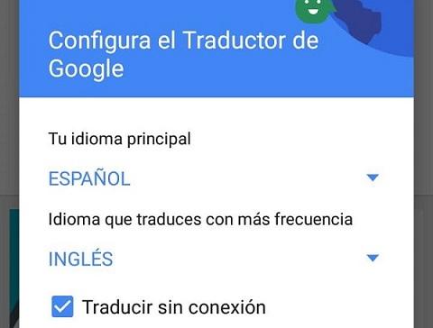 Cómo configurar el modo y el idioma en el Traductor de Google en Android