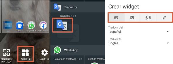 Cómo crear varios widgets del Traductor de Google en Android