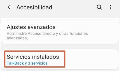 Cómo desactivar Talkback en Android desde los ajustes paso 2