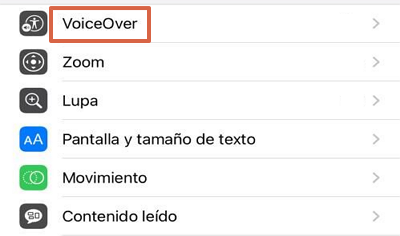 Como desactivar VoiceOver en iOS paso 2