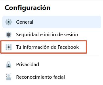 Cómo descargar todas tus fotos y datos de Facebook. Desde la Configuración de Facebook. Paso 5