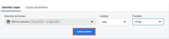 Cómo descargar todas tus fotos y datos de Facebook. Desde la Configuración de Facebook. Paso 9