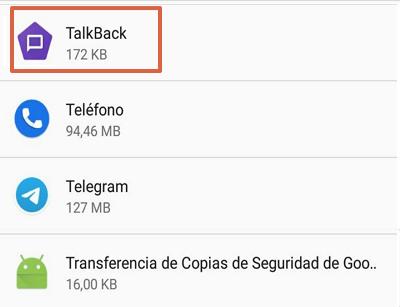 Cómo desinstalar o forzar detención de Talkback en Android paso 4