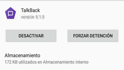 Cómo desinstalar o forzar detención de Talkback en Android paso 5
