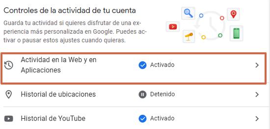 Cómo eliminar o borrar el historial de navegación de Google. Programa la eliminación de manera automática. Desde la PC. Paso 3