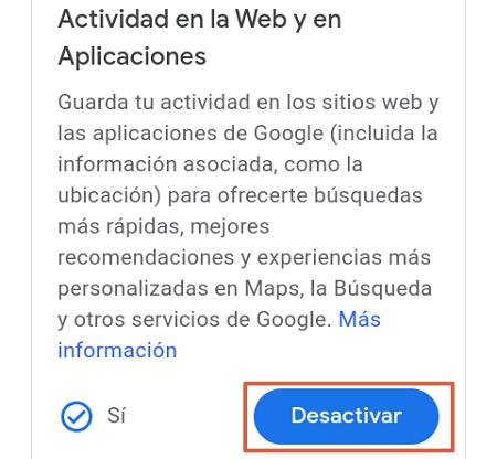Cómo eliminar o borrar el historial de navegación de Google. Programa la eliminación de manera automática. Desde un Smartphone. Nota