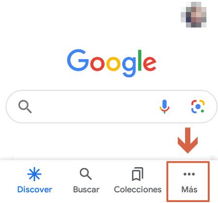 Cómo eliminar o borrar el historial de navegación de Google. Programa la eliminación de manera automática. Desde un Smartphone. Paso 2
