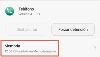 Cómo eliminar o quitar la notificación de buzón de voz en Android borrando los datos de la aplicación teléfono paso 5