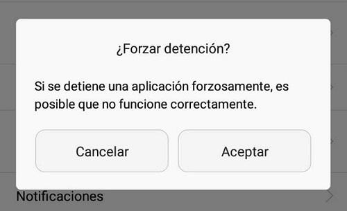 Cómo eliminar o quitar la notificación de buzón de voz en Android forzando la detención de la app
