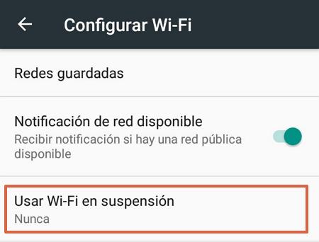 Cómo evitar que el WiFi se deconecte cuando el telefono Android se bloquea paso 4