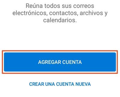 Cómo iniciar sesión o entrar al correo hotmail.com desde el celular usando la app de Outlook paso 2