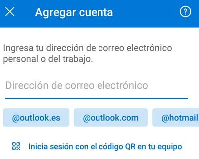 Cómo iniciar sesión o entrar al correo hotmail.com desde el celular usando la app de Outlook paso 3