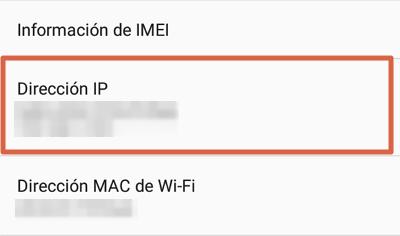 Cómo saber la dirección IP privada de un router desde Android paso 3