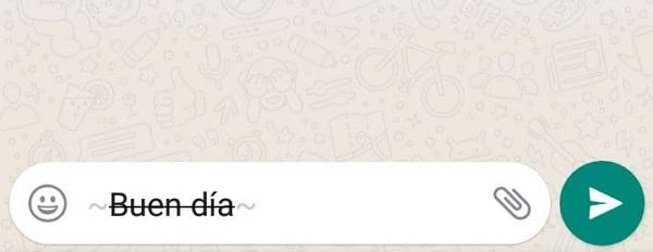 Cómo tachar palabras en WhatsApp