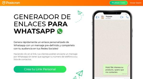 Crear un link personalizado de WhatsApp usando Postcron
