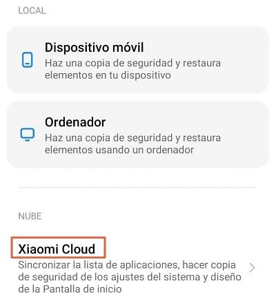 Crear una copia de seguridad para desbloquear el bootloader en teléfonos Xiami paso 5.1