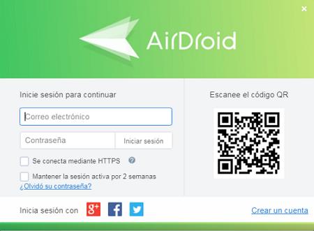 Crear una cuenta en AirDroid y vincular el dispositivo con la computadora paso 5