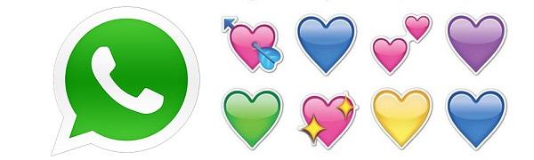 Otras alternativas al corazón rosa en WhatsApp