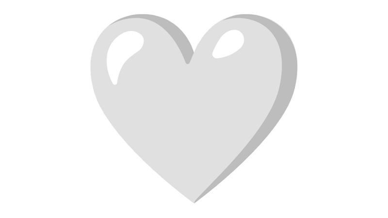 Corazón blanco en WhatsApp significado de este emoji en los chats