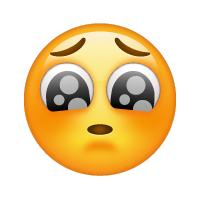 Carita con ojos llorosos