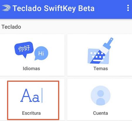 Cómo activar o desactivar el autocorrector del teclado Swiftkey paso 4