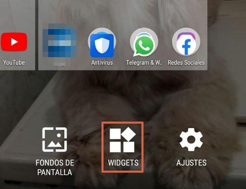 Cómo agregar widgets desde la pantalla paso 2