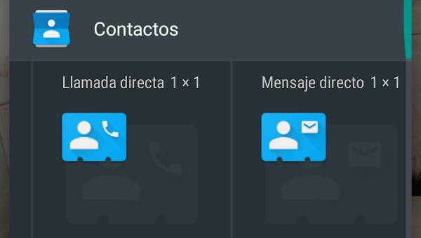 Cómo agregar widgets para enviar mensaje o llamar directamente a un contacto