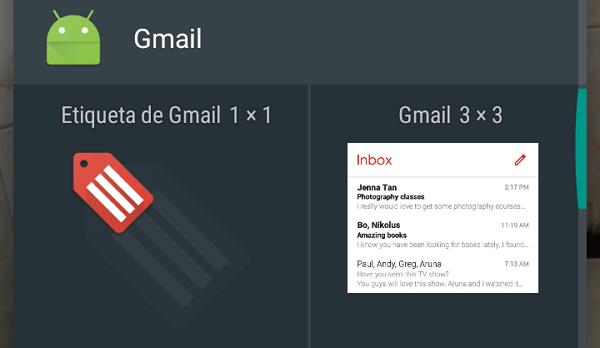 Cómo agregar widgets para revisar el Gmail
