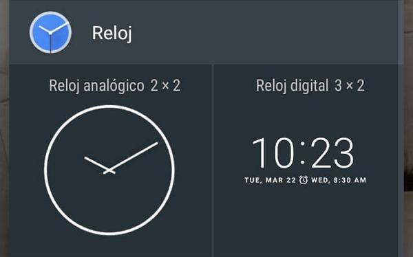 Cómo agregar widgets para ver la hora