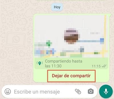 Cómo mandar ubicación en tiempo real directo desde WhatsApp paso 3.1